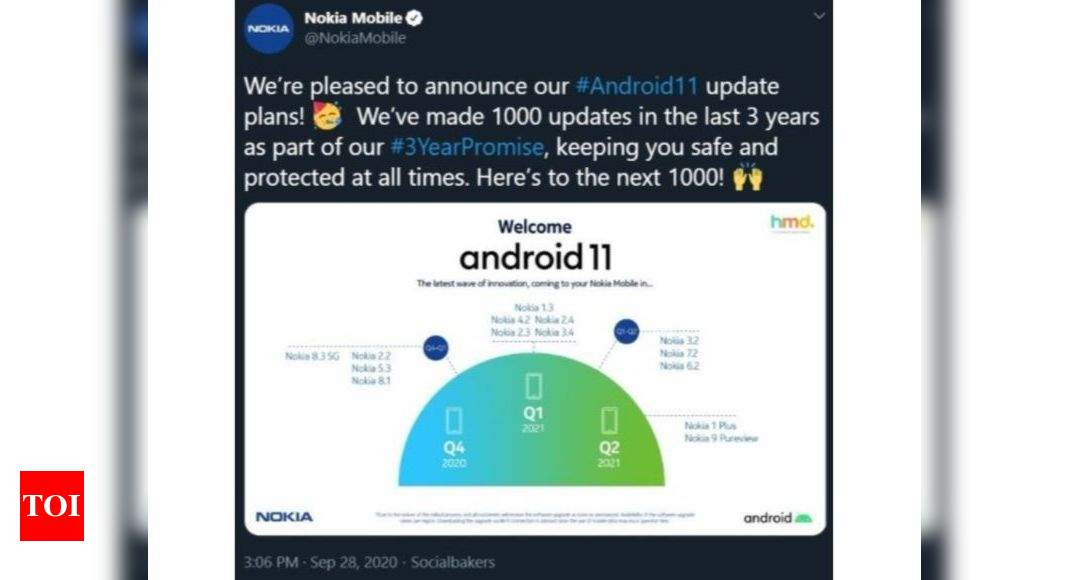 android 11: This maybe Android 11 rollout roadmap for Nokia smartphones