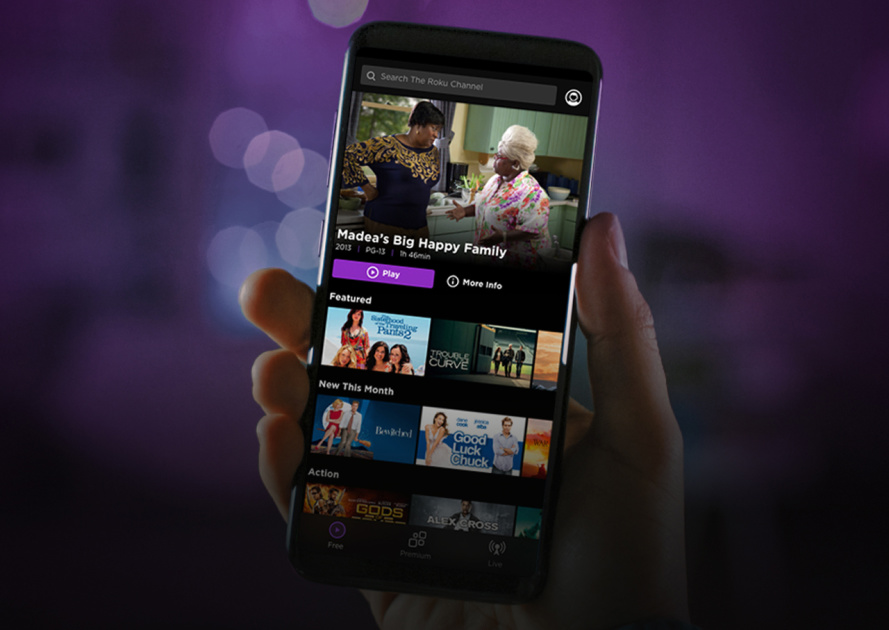 The Roku Channel is now available as a standalone Android and iOS app