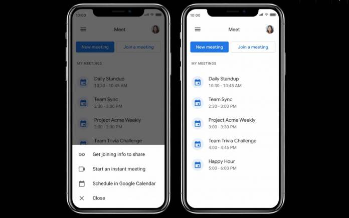"""Google redesigns Meet for mobile to look like Gmail """"meeting experience"""""""