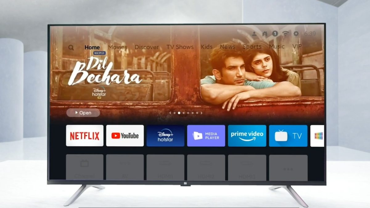 An image showing the display of the Xiaomi Mi TV 4A Horizon Edition