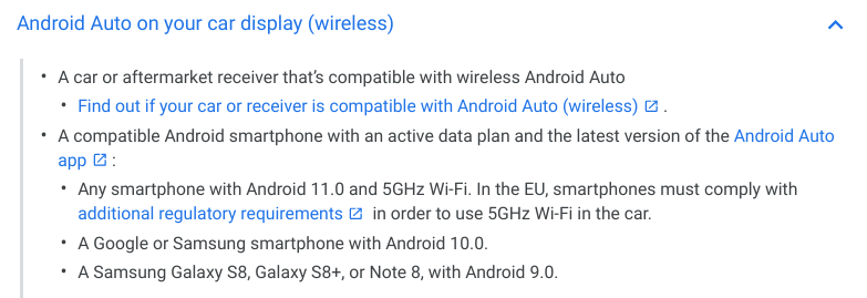 Android 11 brings wireless Android Auto to all phones