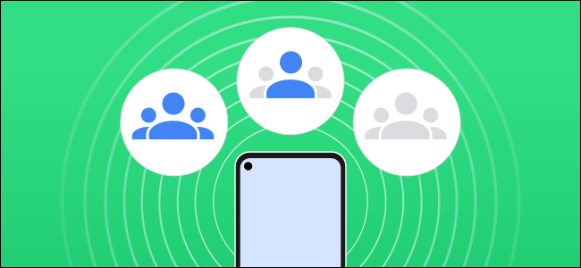 """A graphic showing a """"Nearby"""" share device"""