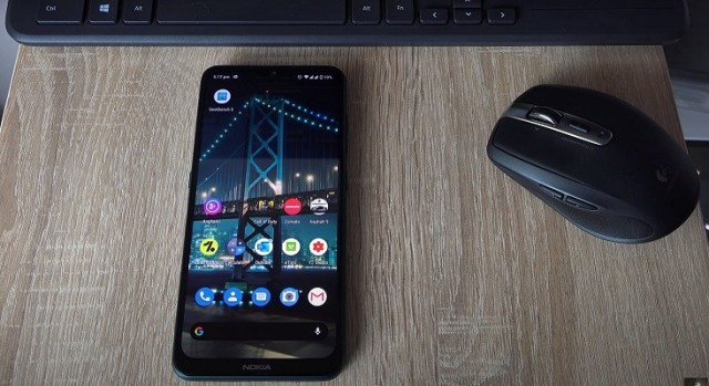 Nokia 7.2 running on Android One