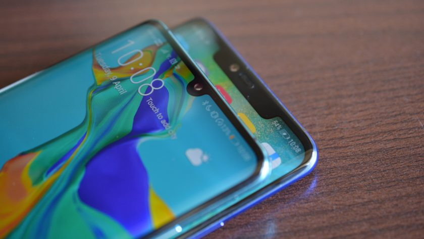 huawei p30 pro vs huawei mate 20 pro side by side notch from the side