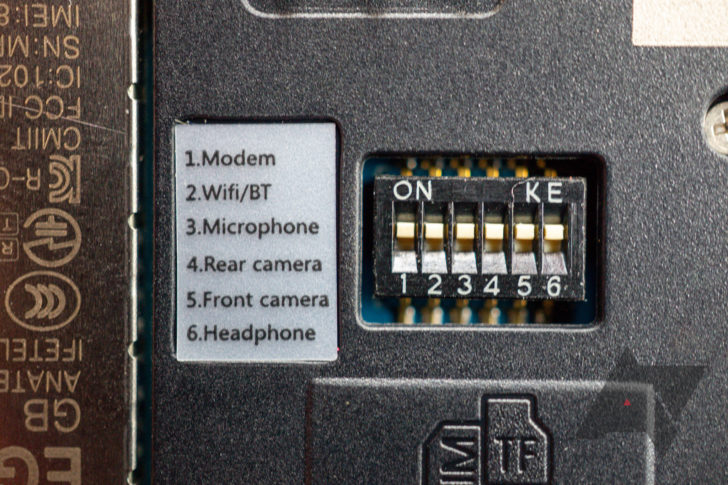 This smartphone has physical kill switches for its cameras, microphone, data, Bluetooth, and Wi-Fi