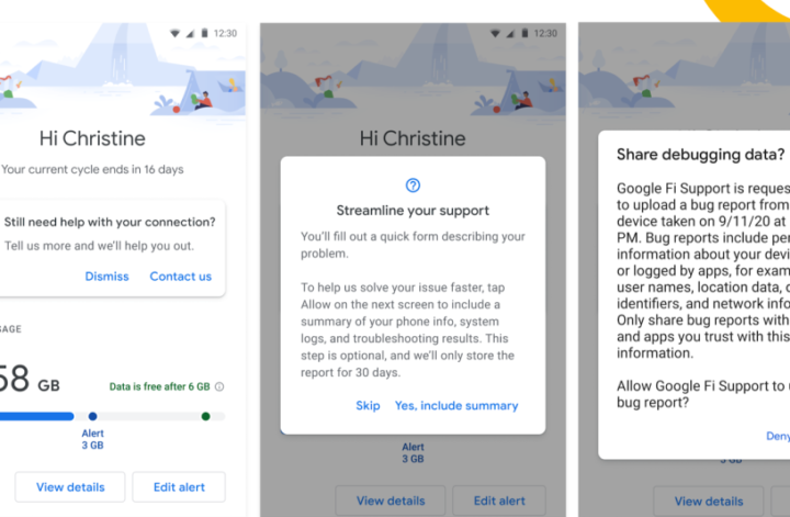 Google Fi on Android 11 lets you troubleshoot connection