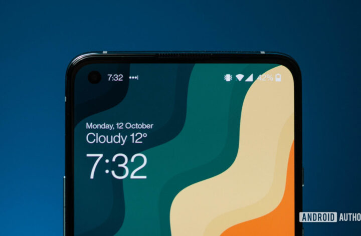 OnePlus 8T top half of the display