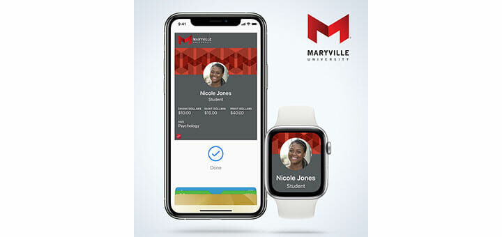 Maryville University Offers Mobile ID on iPhone, Apple Watch, or Android Phones