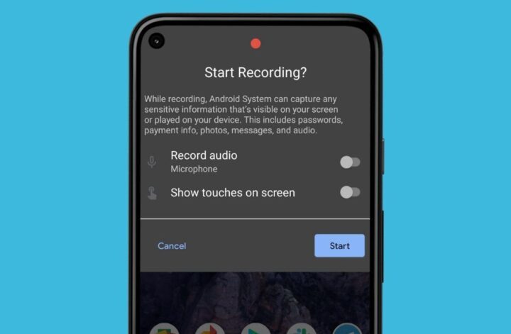 Android 11: How To Record The Phone's Screen