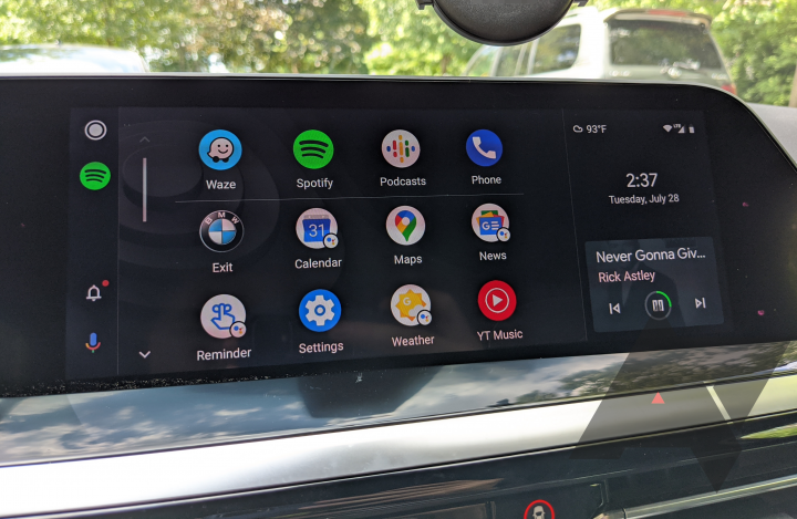 BMW is finally rolling out the Android Auto update over the air