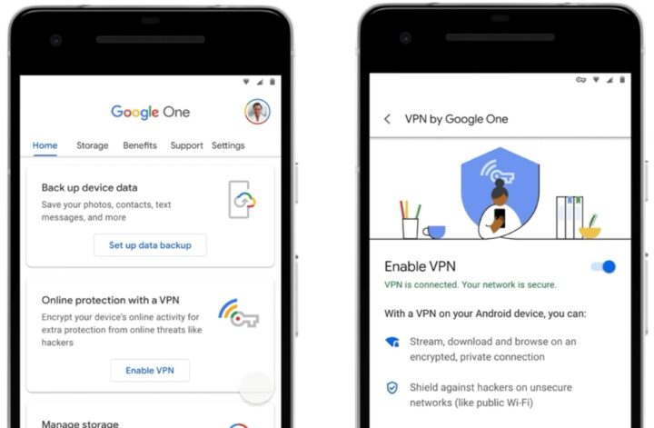 Google One's 2TB and higher plans adding Android VPN