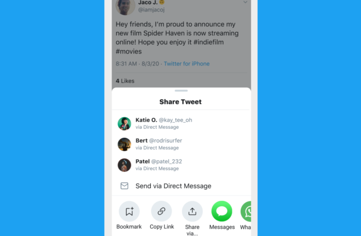 Twitter's 'sharing outside the app' menu is finally coming for Android users / Digital Information World