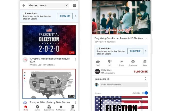Here's how YouTube plans to curb misinformation on Election Day