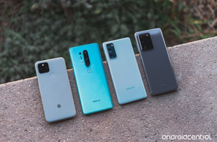Pixel 5, OnePlus 8 Pro, Galaxy S20 FE, and S20 Ultra