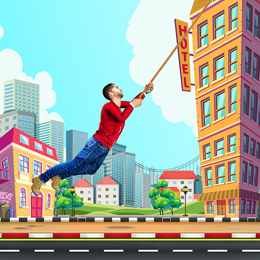 City bounce rope heroFree offline adventure games 1.31 APK MODs Unlimited money free Download on Android