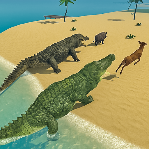 Crocodile Family Simulator Games 2021 1.0 APK MODs Unlimited money free Download on Android