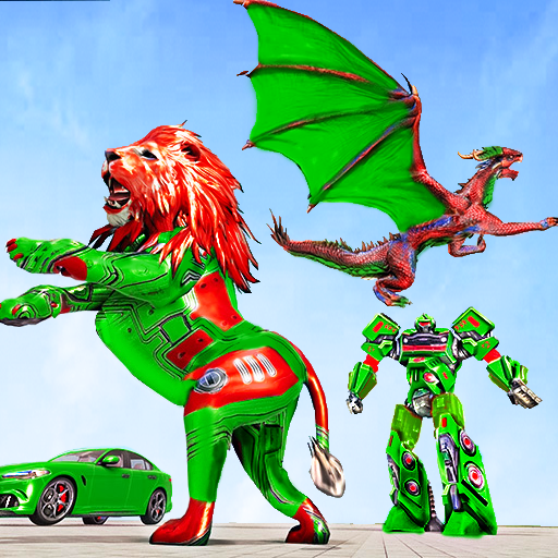 Dragon Robot Car Game Robot transforming games 1.3.7 APK MODs Unlimited money free Download on Android