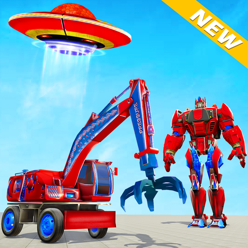 Excavator Robot Car Game Elephant Robot Games 3d 1.1.5 APK MODs Unlimited money free Download on Android