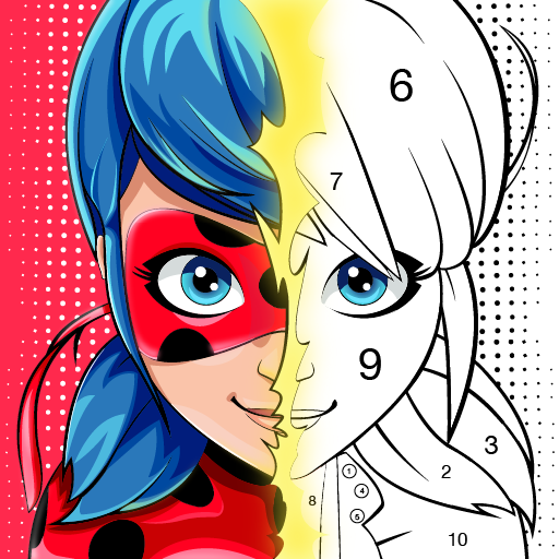 Miraculous Ladybug Cat Noir. Color by number 1.1.2 APK MODs Unlimited money free Download on Android