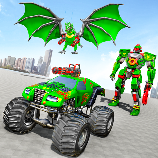 Monster Truck Robot Wars New Dragon Robot Game 1.1.5 APK MODs Unlimited money free Download on Android