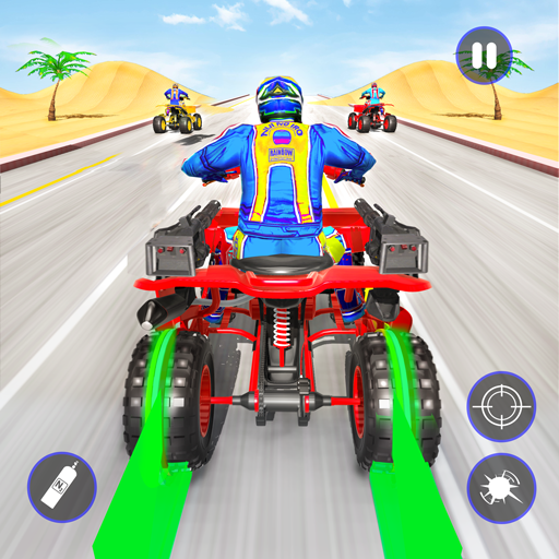 Quad Bike Traffic Shooting Games 2020 Bike Games 3.1 APK MODs Unlimited money free Download on Android